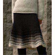FJARA - nederdel i Lett-Lopi fra Istex - Køb garn og opskrift til strikket nederdel her