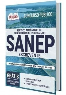 Apostila Concurso Sanep 2020 Pdf Escrevente Em 2020 Apostilas