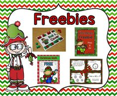 Christmas Ideas and Freebies in the Classroom