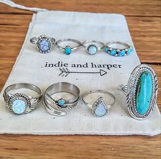 Turquoise and opal. My two favorites. Who cares about diamonds.
