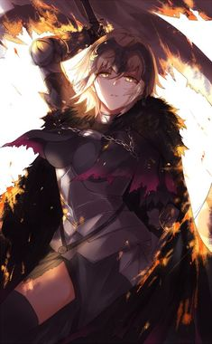 Ecchi Anime Girls Pictures & Images: Fate/Apocrypha - Jeanne Alter is a fine Ruler Jeanne D'arc, Joan Of Arc Fate, Fate Jeanne Alter, Fate Characters, Fate Zero, Color Studies, Beautiful Anime Girl, Animes Wallpapers, Fate Stay Night