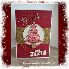 Weihnachtliche Karte, StampinUp!, Demonstratorin. ...