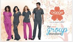 KNOW YOUR SCRUBS: ORANGE STANDARD - With Orange Standard, you can enjoy great-looking, form-flattering, ultra-comfortable scrubs without a premium price tag. It's the new standard in affordable scrubs Star Chef, Lab Coats, Five Star, Carhartt, Scrubs, Nursing, Couture, Orange, High Fashion