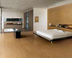 Wabi - Blond, Gris Fumè #CaesarWabi #bedroom #gresPorcellanato #LegnoRovere #Natural #Modern