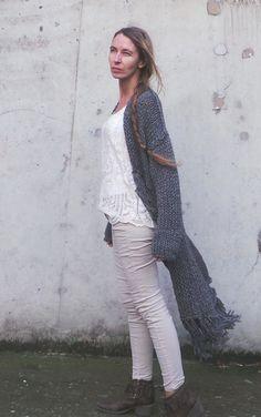 64e1ae454f BOHO Fringe sweater coat by ileaiye on Etsy