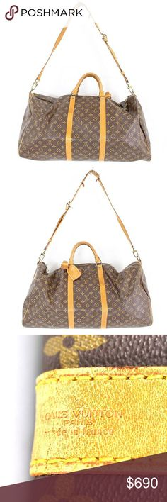 Authentic Louis Vuitton keepall 60 bandoulier Very good condition .free authentication from poshmark .no trades.no low offers Louis Vuitton Bags Travel Bags