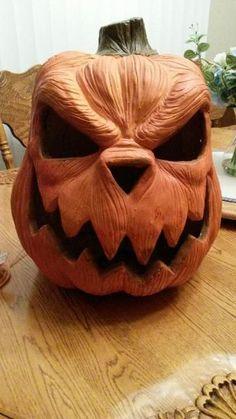 ceramic pumpkin: Has alternating LED lights inside with glitter.