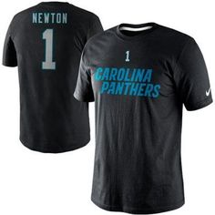 Nike Cam Newton Carolina Panthers Player Name And Number T-Shirt - Black