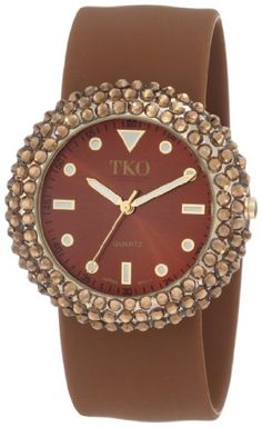TKO ORLOGI Women's TK613BR Crystal Slap Brown Watch
