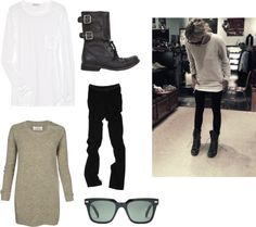 """Biker Boots"" by cookiek on Polyvore"