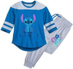 Disney Stitch Pajama Set for Women Size Ladies XL Multi Disney Pjs, Cute Disney Outfits, Cute Pjs, Cute Pajamas, Satin Pyjama Set, Pajama Set, Disney Stitch, Stitch Pajamas, Lelo And Stitch