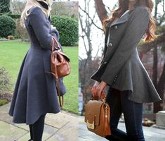 (left) using McCalls M6800 Pattern vs Pinterest inspiration. Grey coat blog: madeatmine.wordpress.com