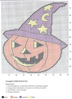 PUMPKIN WITH WITCH HAT WALL HANGING