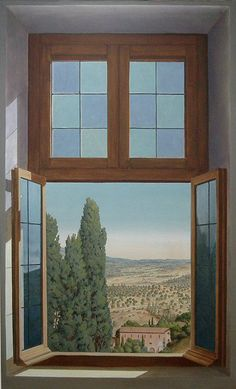 Walter Cipriani ~ trompe l' oeil window