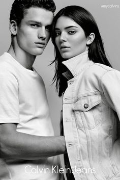 Kendall Jenner for Calvin Klein Jeans // #fashion