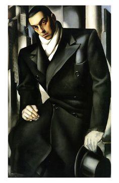Tamara de Lempicka (Polish, 16 May 1898 – 18 March 1980): Tadeusz Lempicki, c.1928. Oil on canvas, Art-Deco style.
