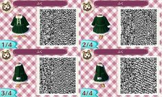 Dark green dress QR code