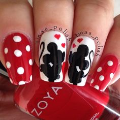 """Mickey and Minnie Mouse"" Photo taken by @tinas_polish on Instagram, pinned via the InstaPin iOS App! http://www.instapinapp.com (01/31/2014)"
