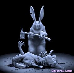 Bunny Rabbits, Easter Bunny, Garden Sculpture, Creepy, Funny, Funny Parenting, Hilarious, Fun, Humor