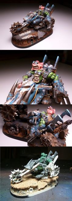 U.S.A. 2011 Chicago - Warhammer 40,000 Vehicle - Demon Winner I love the work put into the base and how the goggles are two toned. The muck and wear on the bike is outstanding.