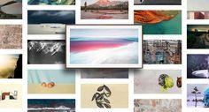 Samsung The Frame 2020 med QLED-teknologi Picture Frame Tv, 65 Inch Tvs, Hidden Tv, Samsung Tvs, Framed Tv, 4k Uhd, Mounted Tv, Art Store, Room Lights
