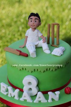 Little cricketer - cake by Zoe's Fancy Cakes - CakesDecor Cricket Birthday Cake, Cricket Theme Cake, Birthday Cake Kids Boys, 10 Birthday Cake, Bithday Cake, Birthday Crafts, 16th Birthday, Paul Cakes, Cake Designs For Boy