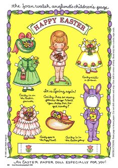 Joan Walsh Anglund Easter Paper Doll (Good Housekeeping - April 1995)