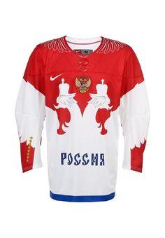 Хоккейный свитер Nike / Найк мужской. Цвет: белый. Сезон: Весна-лето 2014. С бесплатной доставкой и примеркой на Lamoda. http://j.mp/1nEBCB4