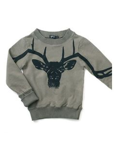 Khaki longsleeve shirt with deer - Yporque