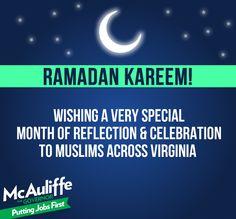 Terry McAuliffe Facebook design celebrating Ramadan.