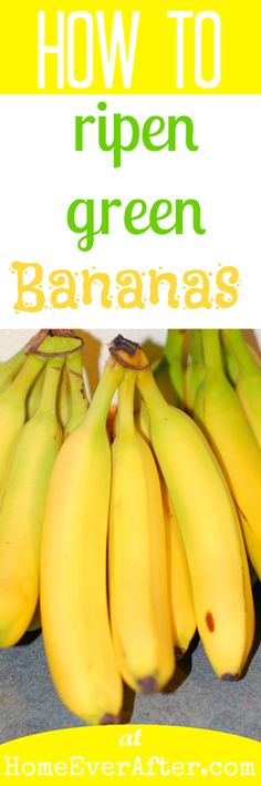 Learn this simple trick for how to *quickly* ripen green bananas naturally and have ripe yellow bananas all year long! Healthy Fruits, Fruits And Veggies, Vegetables, Raw Food Recipes, Healthy Recipes, Healthy Baking, Diabetic Recipes