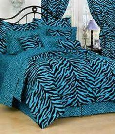 Safari decor by christianjenkin on pinterest safari for Blue zebra print bedroom ideas