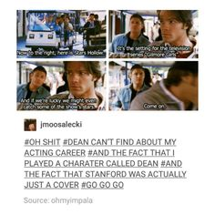 supernatural tumblr textpost dean winchester and sam winchester jared padalecki and jensen ackles
