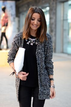 get some sparkling statement necklace to an otherwise basic outfit