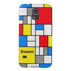 Mondrian Theme Phone Case Galaxy S5 Case