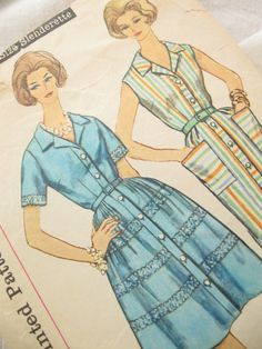 1960s Simplicity 3890 Vintage Shirt Dress Vintage by EmSewCrazy, $16.00