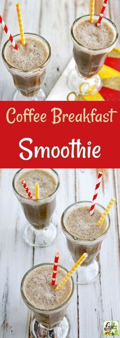 Try this Coffee Breakfast Smoothie recipe as a yummy way to start your day with chocolate flavored coffee, almond milk, and cherries! This easy coffee smoothie recipe makes a healthy afternoon snack or post-workout drink. This coffee shake recipe is also Almond Milk Desserts, Almond Milk Smoothie Recipes, Coffee Smoothie Recipes, Coffee Recipes, Coconut Milk, Smoothies For Energy Recipes, Easy Smoothies, Coffee Breakfast Smoothie, Best Breakfast