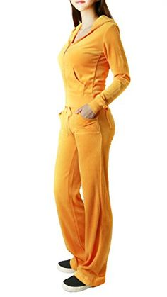 nice FandS-JO23019 Women's Fashion Hoodie Velour 2 piece Set (LARGE, ORANGE) -Zip-front hoodie with packets Soft and Lightweight 2 piece set -http://weddingdressesusa.com/product/fands-jo23019-womens-fashion-hoodie-velour-2-piece-set-large-orange/