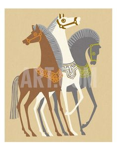 Posters, Art Prints, Framed Art, and Wall Art Collection Abstract Face Art, Illustration Art, Illustrations, Motifs Animal, Scandinavian Folk Art, Horse Silhouette, Horse Drawings, Horse Sculpture, American Indian Art