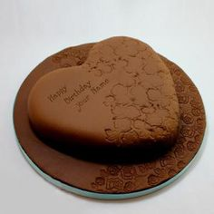 Yummy Chocolate Cake With Name