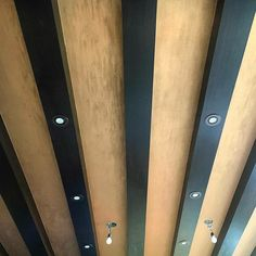 Decorative metallic copper for a kitchen ceiling
