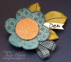 Creating...My Style: Cute Flower Name Tags...