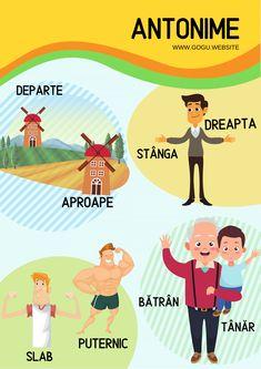 Sinonime, antonime, omonime, paronime – Gogu Education Kids Education, Preschool Activities, Therapy, Family Guy, Guys, Fictional Characters, Aba, Montessori, Classroom