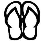 Sandals Die Cut Vinyl Decal PV1128