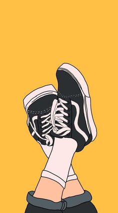Top Nice Lock Screen Iphone X Wallpaper vans off the wall sneakers, on a yellow background, cute background pictures - 2020 Tumblr Wallpaper, Cartoon Wallpaper, Cute Wallpaper Backgrounds, Aesthetic Iphone Wallpaper, Cool Wallpaper, Wallpaper Quotes, Cute Wallpapers, Aesthetic Wallpapers, Iphone Wallpapers