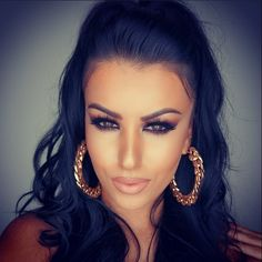 Amrezy! Beauty guru. Eyes and hair looking just right.