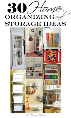 Home Organizing and Storage Ideas