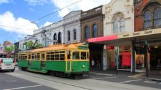 Retro tram in Melbourne, Australia Melbourne Australia, City Life, Continents, New Zealand, Travel Inspiration, Travelling, Island, Explore, Education
