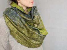 Felted infinity scarf loop men women gift for him by aureliaLT, $125.00