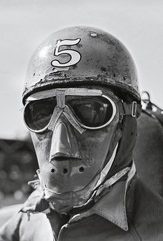 This suggests that there are at least four more of these menacing masked men. Or is this a Dieselpunk modern Tycho Brahe? A post-Apocalyptic analogue precursor to the Cybermen? One of Lord Humungus'. Revival Clothing, Racing Events, Motorcycle Art, Motorcycle Garage, Motorcycle Design, Vintage Race Car, Cool Motorcycles, Classic Motors, Best Vibrators